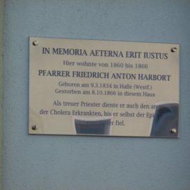 150. Todestag Anton Harborts